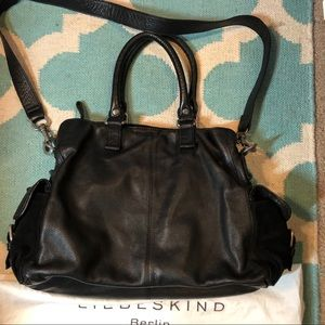 Liebeskind Large Triple Pocket Leather Satchel Bag